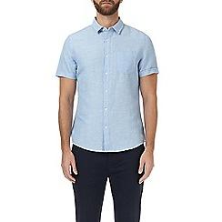 Burton - Light blue short sleeve linen shirt