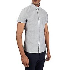 Burton - Grey short sleeve Oxford shirt