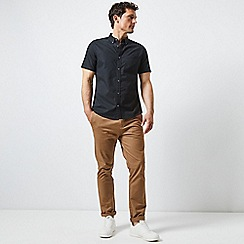 Burton - Black short sleeve Oxford shirt