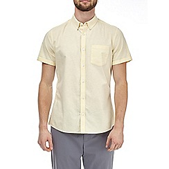 Burton - Yellow short sleeve oxford shirt