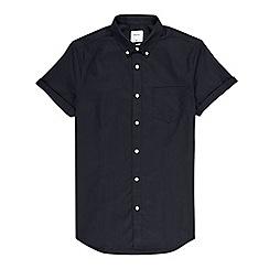 Burton - black short sleeves muscle oxford shirt