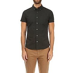 Burton - Olive short sleeve oxford shirt