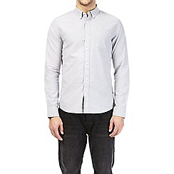 Burton - Light grey long sleeve oxford shirt