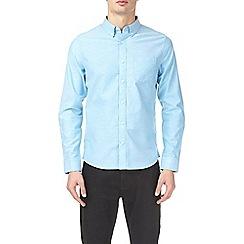 Burton - Turquoise blue long sleeve oxford shirt