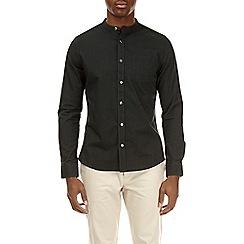 Burton - Olive long sleeve grandad shirt