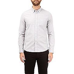 Burton - Grey long sleeve slim fit stretch oxford shirt