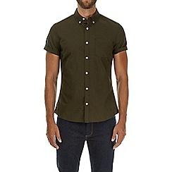 Burton - Khaki short sleeve Oxford shirt