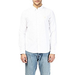 Burton - White long sleeve oxford shirt with embroidery