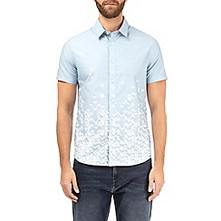Burton - Blue short sleeve geometric placement shirt