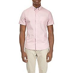 Burton - Pink short sleeve geometric stripe pop print shirt