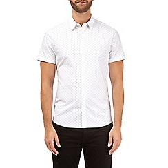 Burton - White short sleeve dot stretch shirt