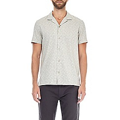 Burton - Ecru short sleeve check print shirt