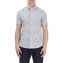 Burton - Grey short sleeve micro floral shirt