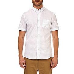 Burton - Charcoal short sleeve denim printed shirt