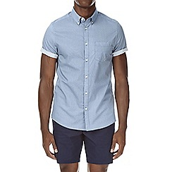 Burton - Short sleeve square print shirt