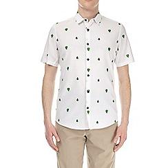 Burton - White short sleeve cactus print shirt