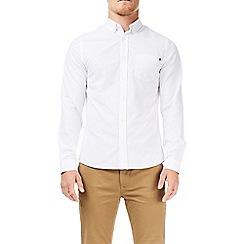 Burton - White long sleeve pocket tab shirt