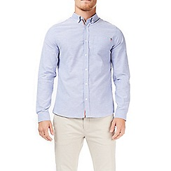 Burton - Blue long sleeve pocket tab Oxford shirt