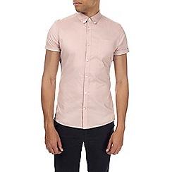 Burton - Pink short sleeve muscle fit shirt