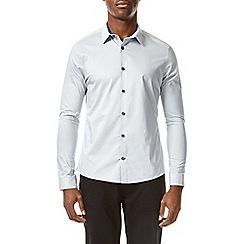 Burton - Light grey stretch skinny fit long sleeve shirt