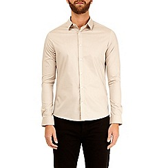 Burton - Sand long sleeve stretch skinny fit shirt