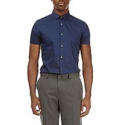 Burton - Navy short sleeve stretch shirt