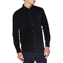Burton - Black long sleeve cord western shirt