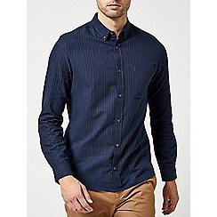 Burton - Navy long sleeve blanket stripe shirt
