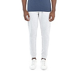 Burton - Frost grey athleisure fabric interest joggers
