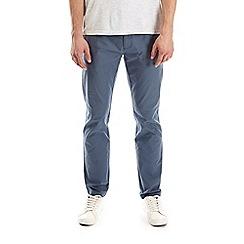 Burton - Blue denim skinny fit stretch chinos