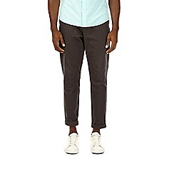 Burton - Charcoal tapered fit washed chinos