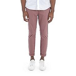 Burton - Pink slim fit stretch smart chinos