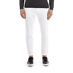Burton - White slim fit stretch chinos