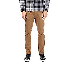 Burton - Chestnut slim fit stretch chinos
