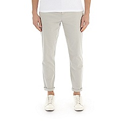 Burton - Light grey tapered fit stretch chinos