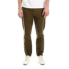 Burton - Mid khaki tapered fit stretch chinos
