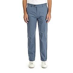 Burton - Denim blue straight leg stretch chinos