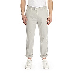 Burton - Light logan grey straight leg stretch chinos