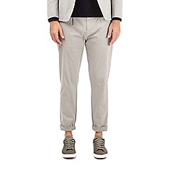 Burton - Grey tapered fit stretch chinos