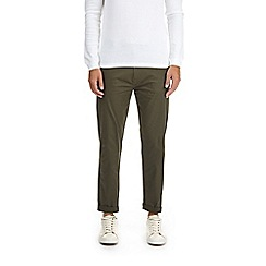 Burton - Khaki tapered stretch chinos