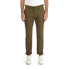 Burton - Khaki slim fit stretch chinos