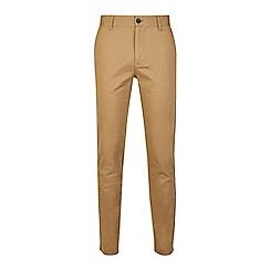 Burton - Tan skinny fit stretch chinos