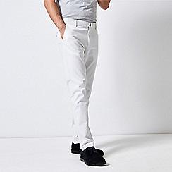 Burton - White Stretch Slim Fit Chinos