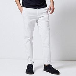 Burton - White Stretch Skinny Fit Chinos