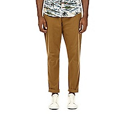 Burton - Camel tapered fit washed chinos