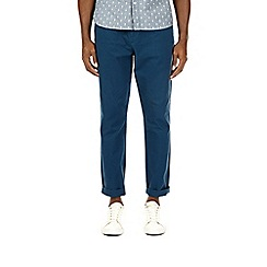 Burton - Blue tapered fit washed chinos