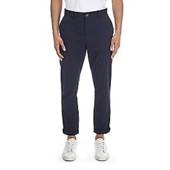 Burton - Navy tapered fit stretch chinos