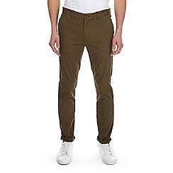 Burton - Khaki skinny fit stretch chinos