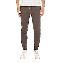 Burton - Charcoal brushed back joggers