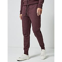 Burton - Burgundy marl slim fit joggers